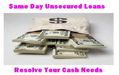 Same day unsecured loans as the name suggest that are the funds unsecured in nature means to get access to these funds you need not to pledge any collateral ahead of approval. In addition you can also avoid credit checking procedure, lengthy faxing documents and any type of paperwork. Availability of our online application form adds tremendous convenience in our job of arranging loan. You have to simply fill the online application with relevant detail and submit it to our site for approval.