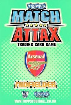 2010-11 Topps Premier League Match Attax #12 Tomas Rosicky Back
