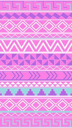 Pink Aztec iPhone 5 wallpaper