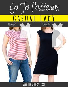 Casual Lady | The best sewing patterns for women, girls, toys and more. Go To Patterns & Co.