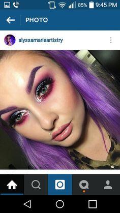 Purple and cranberry smokey eye
