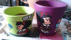Macetas Mafalda: Mafalda Hola y Mafalda Paz