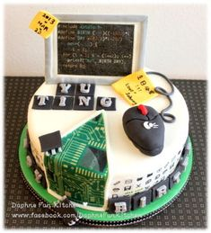 Computer science geeky cake