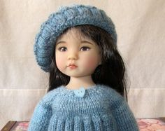 SALE Hand knitted outfit for Effner Little Darling doll 13 inches