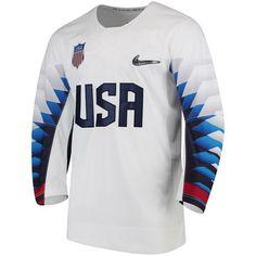 promo code df04e a5574 Men s Nike White US Hockey 2018 Winter Olympics Replica Jersey Olympic  Hockey, Olympic Sports,