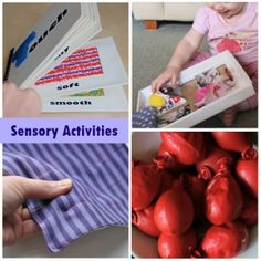 Sensory activities: Good activities, some need tweeking to match developmental stage but a good place to start