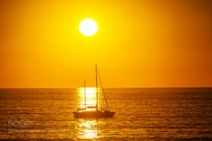 Sailboat at Sunset in Oceanside - November 14 2015 by cruse  beach beautiful boat light ocean sailboat sea seascape sky sun sunset travel water cruse