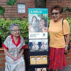 This my aunt and my grandmother preaching in Medellin Colombia. Grandmother is 99 years old. Photo shared by @levar65