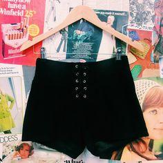 Hustle & the Vixen x Velvet Corset Lace-up Shorts