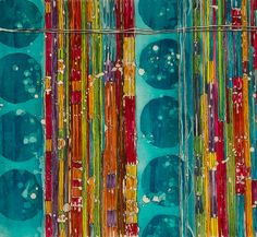 Abstract Tribal  ByGabrielle Modern Batik + Textile Art