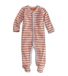 77 striped footie one piece. I'll take one in each color, please! The nice thing about twins. you need two anyway, so deciding which color to buy is rarely an issue. Cheap Baby Clothes, Baby Clothes Shops, Clothes For Women, Baby G, Baby Love, Toddler Fun, Stylish Kids, Mens Outfitters, Online Shopping Clothes