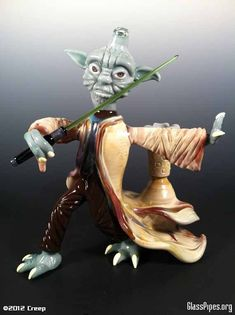 Star Wars Character Smoking Glass Art | Incredible Things - Glass pipe, you know, for people who might need one ;)