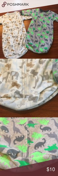 Bundle of 2 Baby boy sleep sacks Both are by Just one you by Carter's. Zipper front closure. 100% polyester. Fleece like material. EUC. (BK) Carter's Pajamas Sleep Sacks