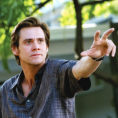 Jim Carrey..... Love me !!!! Love me!!!! Love that line in movie Bruce Almighty