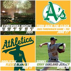 Miss A's baseball? Here are 4 promotions to look forward to in 2015. More giveaways revealed throughout the offseason! #GreenCollar