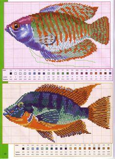 Вышивка на морскую тематику. Схемы рыбок. Обсуждение на LiveInternet - Российский Сервис Онлайн-Дневников