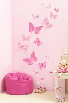 Funtosee Vintage Butterfly Wall Decals, Pink FunToSee,http://www.amazon.com/dp/B00CC9KZ98/ref=cm_sw_r_pi_dp_rG8etb1XWAMPW612
