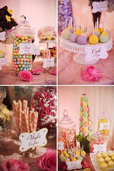 Custom Dessert Bar by TLC's Candy Queen! {Signs designed by Posh Pixels Design Studio LLC}