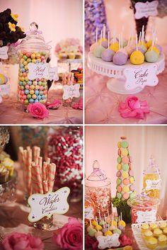 Custom Dessert Bar by TLC's Candy Queen! {Signs designed by Posh Pixels Design Studio LLC}