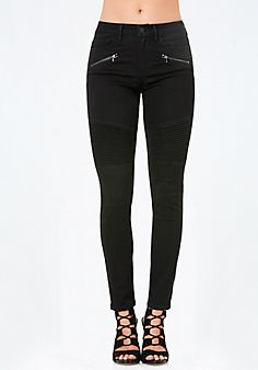 Pintuck+Moto+Skinny+Jeans   #bebe #pinyourwishlist