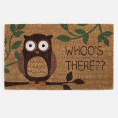 Outdoor Harvest Decor | Owl Coir Welcome Mat | Shopko.com