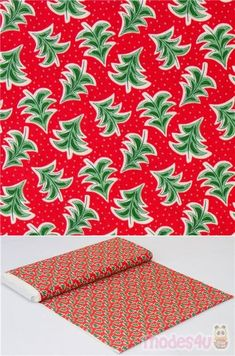 Lasenby Cotton, from the UK, with cheerful dancing trees motif, Merry and Bright, Liberty Fabrics red cotton fabric with falling fir trees Christmas design #Cotton #Flower #Leaf #Plants #Trees #Christmas #FabricsFromTheUK Christmas Fabric, Christmas Design, Christmas Tree, Kawaii, Fir Tree, Liberty Fabric, Merry And Bright, Fabric Patterns, Festivus