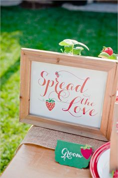 strawberry bridal shower ideas-- perhaps some of my ZTA lady friends will do this