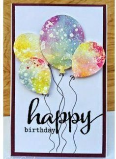Marble Effect Balloons Birthday Card @ Rs. 199