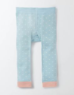 Our cosy leggings have sweet animal friends on the back. Team with dresses on colder days or with tees when it gets a bit warmer. In soft cotton with a hint of stretch, they're super-comfortable for all that stretching, rolling and crawling.