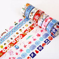 1 PCS Summer of The Sea DIY Washi Tapes Stationery Masking Tape Decorative Adhesive Tapes School Supplies 15mm*8m #Affiliate
