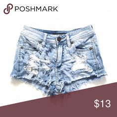 Kendall & Kylie distressed shorts Distressed high waisted shorts with studs Kendall & Kylie Shorts Jean Shorts
