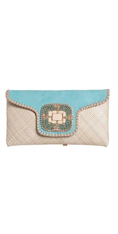 Ondade Mar 2014 Turquoise Beaded #Clutch B317/CARRY/CR14 | South Beach Swimsuits