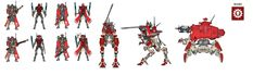 What are the colour schemes of the Ad Mech? : 40kLore