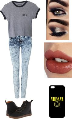 Bea Miller fannfiction . by imsorryimvanessa on Polyvore featuring 7 For All Mankind, Dr. Martens and Charlotte Tilbury