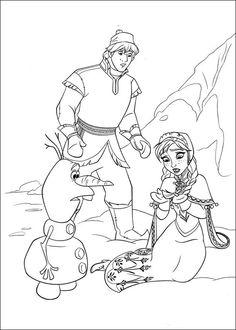 Dibujos para Colorear. Dibujos para Pintar. Dibujos para imprimir y colorear online. Frozen 12