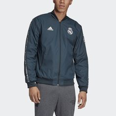 Real Madrid Anthem Jacket Grey XL Mens 76c3c4108f4be