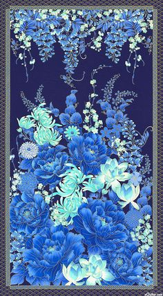 "Imperial Garden - Under the Wisteria - 24"" x 44"" PANEL - Quilt Fabrics from www.eQuilter.com"