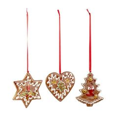 Villeroy & Boch, 'Nostalgic Ornaments' Decorative pendant set Ginger bread, 7.5 cm