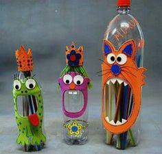 Image result for plastic flessen knutselen