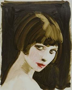 Louise Brooks (there's something about Louise Brooks - not just sexuality (altho', let's face it, she has few peers in THAT area), but a deep intelligence which adds to her allure. Louise Brooks, Photo Portrait, Portrait Art, Painting People, Drawing People, Lost Girl, Illustration Art, Illustrations, Face Art