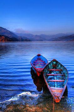scent-of-me: Canoes on Phewa Lake Nepal