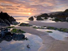 Combesgate beach sunset, Woolacombe North Devon
