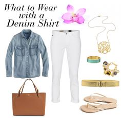 What to Wear with a Denim Shirt! http://www.momgenerations.com/2014/08/what-to-wear-with-a-denim-shirt/ #fashion