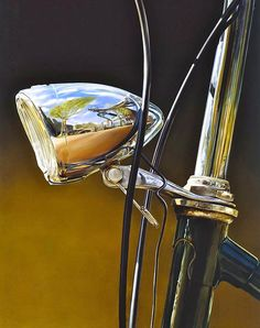 De Fiets (The Bike), 1999 by Tjalf Sparnaay on Curiator, the world's biggest collaborative art collection. Hyperrealism Paintings, Hyperrealistic Art, Tjalf Sparnaay, Reflection Art, Hyper Realistic Paintings, Mountain Paintings, Dutch Artists, Ap Art, No Photoshop