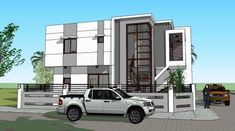 House Design Plans Signed and Sealed and Ready to Use for Building Permits New House Construction or Housing Loan Requirement Four Bedroom House Plans, Duplex House Plans, Two Story House Design, Small House Design, Modern Architecture House, Architecture Design, New House Construction, Model House Plan, Home Design Plans