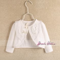 2013 autumn child baby girls clothing cotton lace collar 100% open front shrug coat cape $18.30