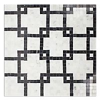 McAlister Black Mosaic. Could make this with porcelain tile