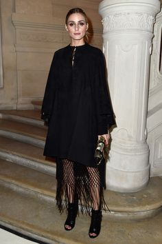 Olivia Palermo attends the Valentino Spring Summer 2016 show as part of Paris Fashion Week on January 27, 2016