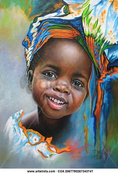 Portrait No. 94 Title: Girl from Africa 94 Year: 2016 Type: Painting Technique: Oil Support: Canvas Measurements: cm Price: Consult License: All rights reserved African Children, African Girl, Africa Painting, Afrique Art, African Artwork, Black Love Art, African American Artist, Black Artwork, Art Thou