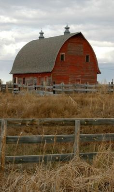 I've seen lots of old red barns that look just like this one. Always brings back days living on the farm as a kid.